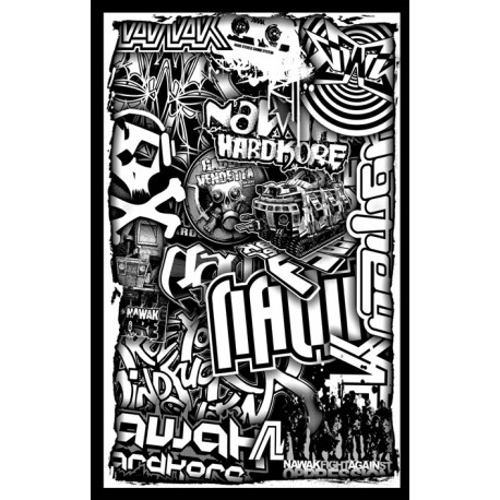 Backdrop Nawak Patchwork (220X140 - Black & White)