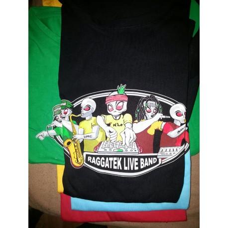T-Shirt Raggatek Live Band (Nero)