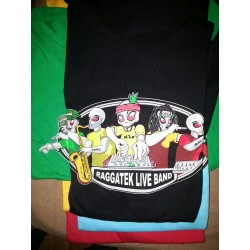 T-Shirt Raggatek Live Band (Nero)