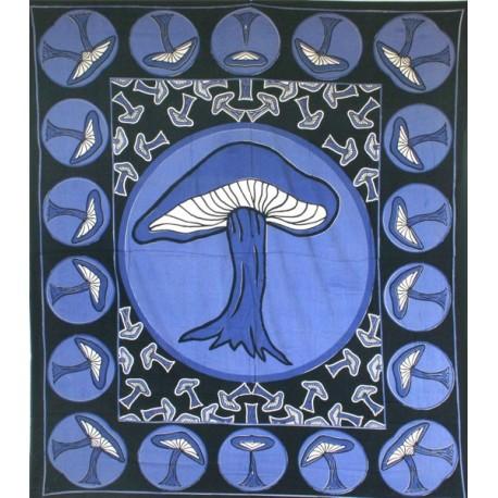 Backdrop Mushroom Multi (240X220 cm - Blue)