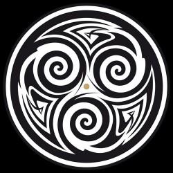 """Feutrine 12"""" Logo Triskel (Noir & Blanc)"""