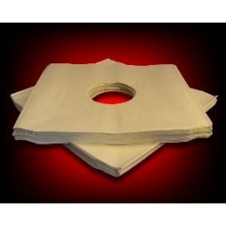 "12"" Black Inner Paper Sleeve Pack with 2 Holes (X 10)"