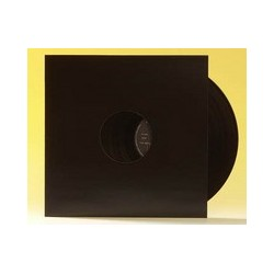 "12"" Black Vinyl Record Sleeve Pack with 2 Holes (X10)"