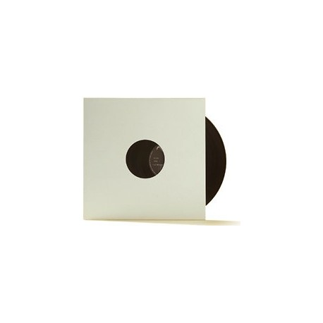 "12"" White Vinyl Record Sleeve Pack with 2 Holes (X 10)"